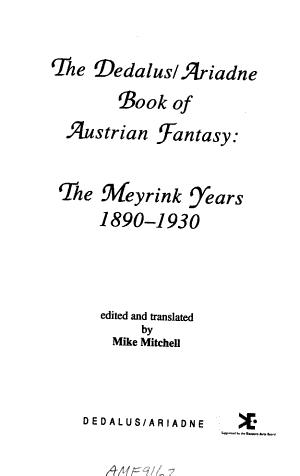 The Dedalus/Ariadne Book of Austrian Fantasy