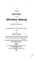 A Concise History of the Christian Church  from the birth of the Saviour to the present time PDF