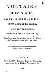 Moreau et Lafortelle chez Nonon: fait historique et un acte et en Prose