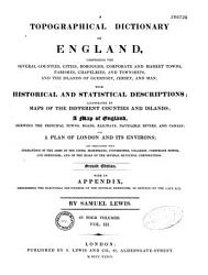 A Topographical Dictionary Of England  Book PDF