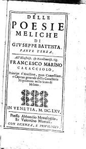 Della Poesie meliche: Volume 3