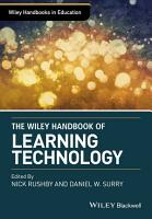 Wiley Handbook of Learning Technology PDF