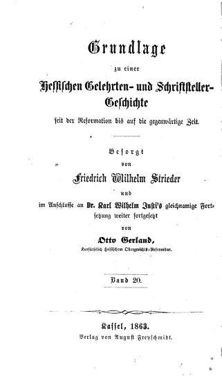 Grundlage zu einer hessischen gelehrten   schriftsteller  und k  nstler geschichte von 1831 bis auf die neueste zeit PDF