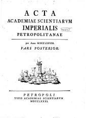 Acta Academiae Scientiarum Imperialis Petropolitanae: Volume4