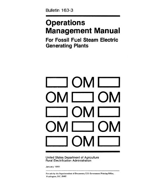 Download Operations Management Manual for Fossil Fuel Steam Electric Generating Plants Book