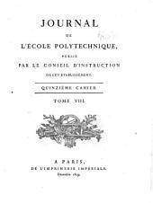 Journal de l'École polytechnique: Volume8,Numéro15