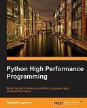 Python High Performance Programming PDF