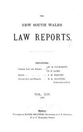 The New South Wales Law Reports, 1880-1900: Volume 14