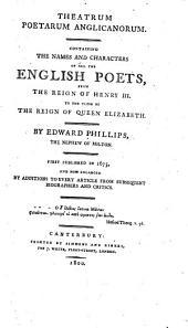 Theatrum Poetarum Anglicanorum: Volume 1