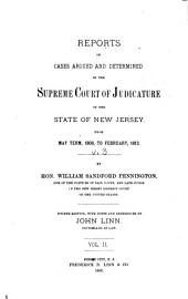 Reports of Cases Determined in the Supreme Court of Judicature of the State of New Jersey: Volume 3