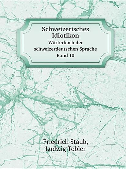 Schweizerisches Idiotikon PDF