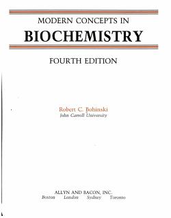 Modern Concepts in Biochemistry PDF