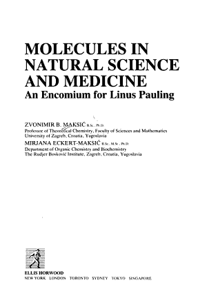 Molecules in Natural Science and Medicine