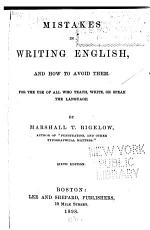 Mistakes in Writing English  and how to Avoid Them     PDF