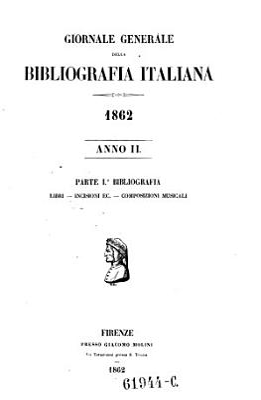 Giornale generale della bibliografia italiana PDF