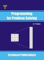 Programming for Problem Solving PDF