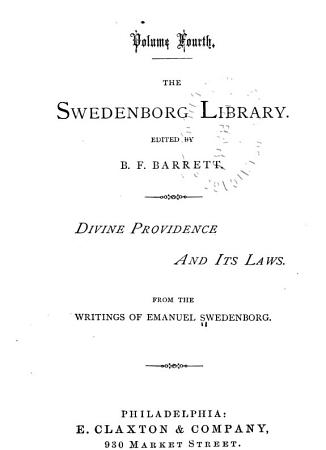 The Swedenborg Library  Divine providence and its laws PDF