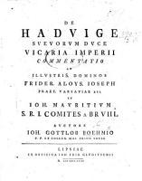 De Haduige  Sueuorum duce     commentatio PDF