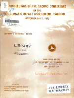 Proceedings of the Second Conference on the Climatic Impact Assessment Program  November 14 17  1972 PDF