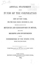 Consolidated Annual Report of the Comptroller of the City of New York for the Fiscal Year ...: Volume 1848