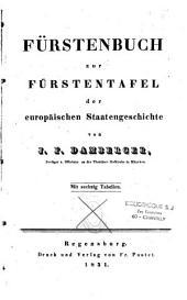 Fürstenbuch zur Fürstentafel der europäischen Staatengeschichte: Band 1