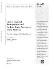 Chile s Regional Arrangements and the Free Trade Agreement of the Americas PDF