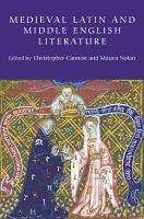Medieval Latin and Middle English Literature PDF