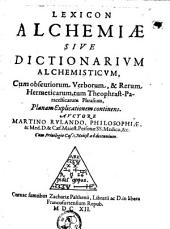 Lexicon alchemiae sive dictionarium alchemisticum