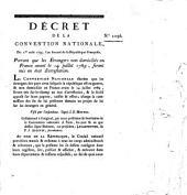Decret de la Convention Nationale: Volume 1096