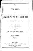 The Works of Beaumont and Fletcher PDF