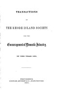 Transactions of the Rhode Island Society for the Encouragement of Domestic Industry PDF