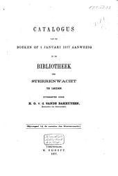Catalogus van de boeken op 1 Januari 1877 aanwezig in de bibliotheek der sterrenwacht te Leiden