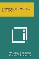 Homeopathic Materia Medica