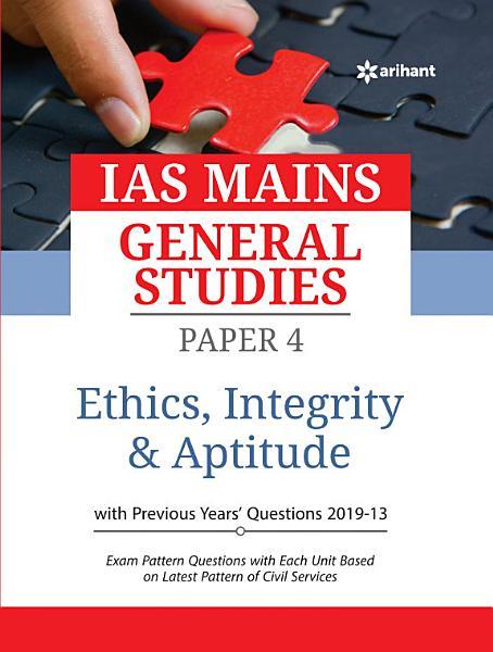 IAS Mains Paper 4 Ethics Integrity   Aptitude 2020 PDF