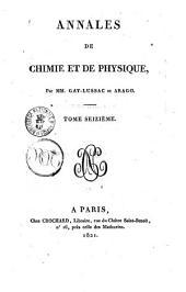 Annales de chimie et de physique: Volume16