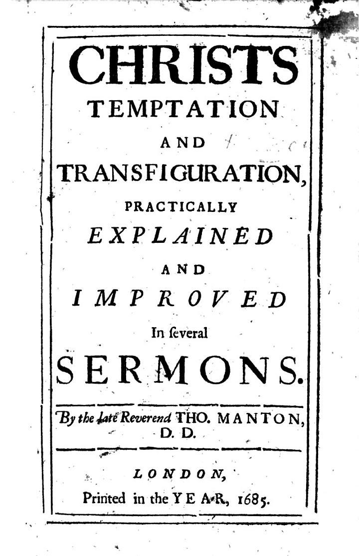 Christs Temptation and Transfiguration