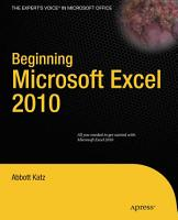 Beginning Microsoft Excel 2010 PDF