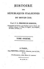 Histoire des républiques Italiennes du Moyen Age: 11