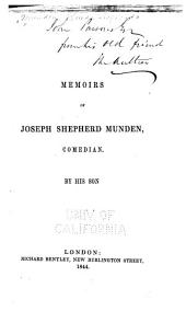 Memoirs of Joseph Shepherd Munden, Comedian