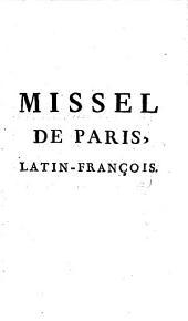 Missel de Paris, latin-françois avec prime, tierce, sexte, et les processions, imprimé par ordre de Monseigneur l'Archevêque