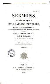 Sermons, panégériques et oraisons funèbres