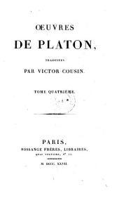 Oeuvres de Platon,
