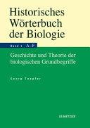 Historisches Worterbuch Der Biologie
