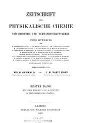 Zeitschrift für physikalische Chemie: Band 1