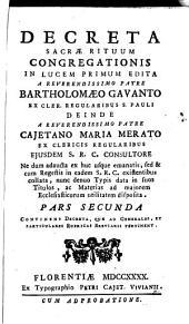 DECRETA SACRAE RITUUM CONGREGATIONIS.: CONTINENS DECRETA, QUAE AD GENERALES, ET PARTICULARES RUBRICAS BREVIARII PERTINENT. PARS SECUNDA, Page 2