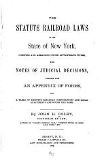 The Statute Railroad Laws of the State of New York