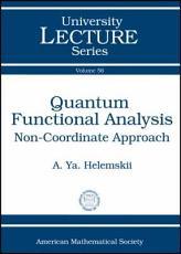 Quantum Functional Analysis PDF