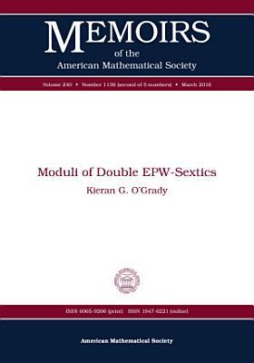 Moduli of Double EPW Sextics