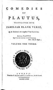 Comedies of Plautus: Volume 3