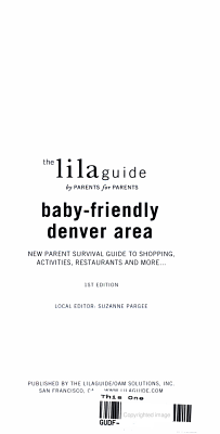 The Lilaguide  Baby Friendly Denver Area PDF